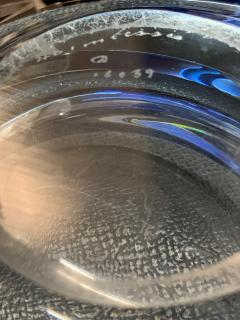 Per L tken Danish Glass Ovoid Bowl by Per L tken for Holmegaard 1960s - 1945722