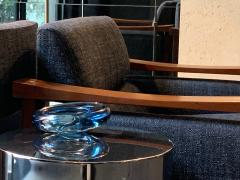 Per L tken Danish Glass Ovoid Bowl by Per L tken for Holmegaard 1960s - 1945726