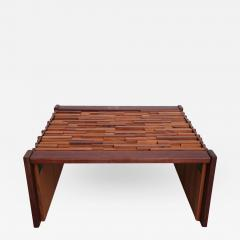 Percival Lafer Pair of Brazilian Mixed Wood Low Tables - 383418