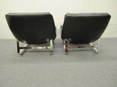 Percival Lafer Pair of Pervical Lafer Style Chrome Lounge Chairs Midcentury Danish - 1570818