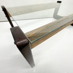 Percival Lafer Percival Lafer Coffee Table Brazilian Mid Century Modern Wood Glass - 1949310