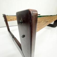 Percival Lafer Percival Lafer Coffee Table Brazilian Mid Century Modern Wood Glass - 1949312
