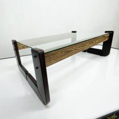 Percival Lafer Percival Lafer Coffee Table Brazilian Mid Century Modern Wood Glass - 1949313