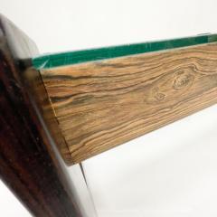 Percival Lafer Percival Lafer Coffee Table Brazilian Mid Century Modern Wood Glass - 1949314