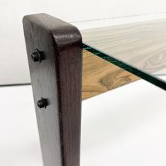 Percival Lafer Percival Lafer Coffee Table Brazilian Mid Century Modern Wood Glass - 1949324