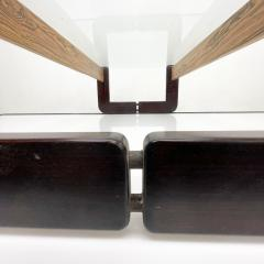 Percival Lafer Percival Lafer Coffee Table Brazilian Mid Century Modern Wood Glass - 1949327