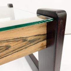 Percival Lafer Percival Lafer Coffee Table Brazilian Mid Century Modern Wood Glass - 1949328