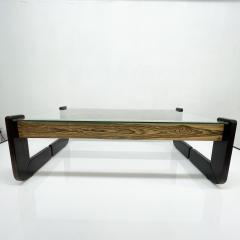 Percival Lafer Percival Lafer Coffee Table Brazilian Mid Century Modern Wood Glass - 1949329