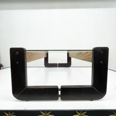 Percival Lafer Percival Lafer Coffee Table Brazilian Mid Century Modern Wood Glass - 1949330
