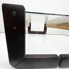 Percival Lafer Percival Lafer Coffee Table Brazilian Mid Century Modern Wood Glass - 1949347
