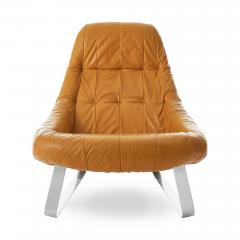 Percival Lafer Percival Lafer Earth Chrome Leather Lounge Chair - 1604505
