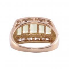 Peridot Diamond 14K Ring - 2080702