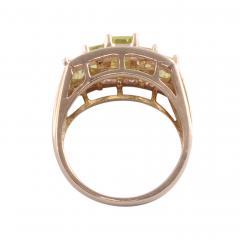 Peridot Diamond 14K Ring - 2080705