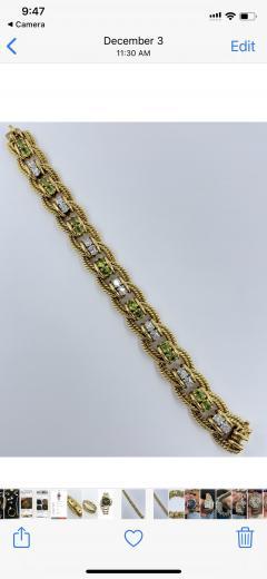Peridot Diamond Bracelet - 1768087