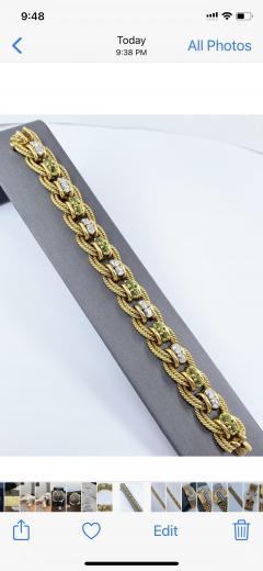 Peridot Diamond Bracelet - 1768089