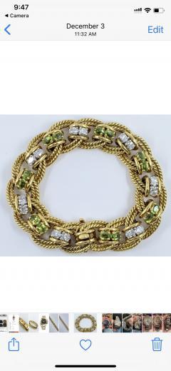 Peridot Diamond Bracelet - 1768090