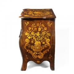 Period Dutch Mahogany Four Drawer Bombe Marquetry Commode 1800 - 1165074