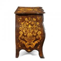 Period Dutch Mahogany Four Drawer Bombe Marquetry Commode 1800 - 1165078