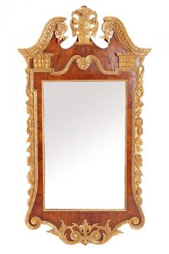 Period George II Pier Glass with Bookmatched Walnut Veneers - 2006854