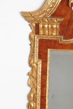 Period George II Pier Glass with Bookmatched Walnut Veneers - 2006856