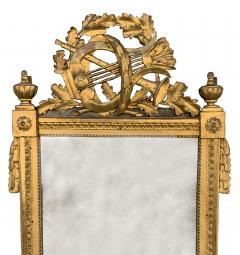 Period Louis XVI 18th Century French Giltwood Louis XVI Mirror with Lyre - 1159671