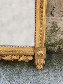 Period Louis XVI 18th Century French Giltwood Louis XVI Mirror with Lyre - 1159674