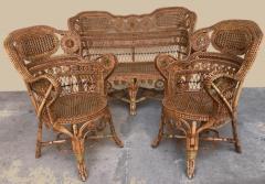 Perret et Vibert Rattan garden furniture set by Maison Perret Vibert second half of XIX Century - 1130740