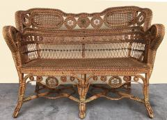 Perret et Vibert Rattan garden furniture set by Maison Perret Vibert second half of XIX Century - 1130741