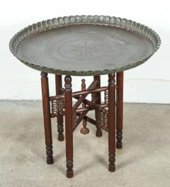 Elegant Persian Mameluke Style Tray Table On Wooden Folding Stand   338450