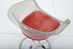 Peter Hoyte Peter Hoyte Acrylic Tulip Chair on Chrome Base - 1416973