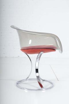 Peter Hoyte Peter Hoyte Acrylic Tulip Chair on Chrome Base - 1416974