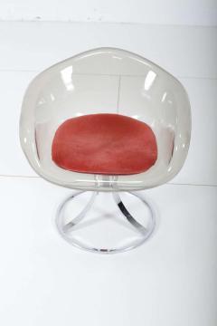 Peter Hoyte Peter Hoyte Acrylic Tulip Chair on Chrome Base - 1416975