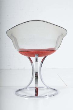 Peter Hoyte Peter Hoyte Acrylic Tulip Chair on Chrome Base - 1416976
