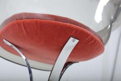 Peter Hoyte Peter Hoyte Acrylic Tulip Chair on Chrome Base - 1416978
