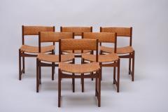 Peter Hvidt Orla M lgaard Nielsen Model 350 Dining Chairs by Hvidt M ldgaard Nielsen in Teak and Woven Cane - 927799