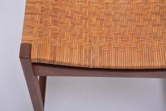 Peter Hvidt Orla M lgaard Nielsen Model 350 Dining Chairs by Hvidt M ldgaard Nielsen in Teak and Woven Cane - 927800