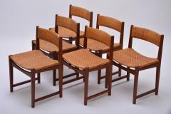 Peter Hvidt Orla M lgaard Nielsen Model 350 Dining Chairs by Hvidt M ldgaard Nielsen in Teak and Woven Cane - 927801