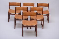 Peter Hvidt Orla M lgaard Nielsen Model 350 Dining Chairs by Hvidt M ldgaard Nielsen in Teak and Woven Cane - 927803