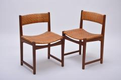 Peter Hvidt Orla M lgaard Nielsen Model 350 Dining Chairs by Hvidt M ldgaard Nielsen in Teak and Woven Cane - 927804