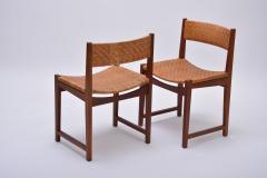 Peter Hvidt Orla M lgaard Nielsen Model 350 Dining Chairs by Hvidt M ldgaard Nielsen in Teak and Woven Cane - 927805