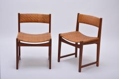 Peter Hvidt Orla M lgaard Nielsen Model 350 Dining Chairs by Hvidt M ldgaard Nielsen in Teak and Woven Cane - 927808