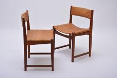Peter Hvidt Orla M lgaard Nielsen Model 350 Dining Chairs by Hvidt M ldgaard Nielsen in Teak and Woven Cane - 927809