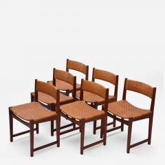 Peter Hvidt Orla M lgaard Nielsen Model 350 Dining Chairs by Hvidt M ldgaard Nielsen in Teak and Woven Cane - 929018