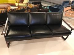 Peter Hvidt Orla M lgaard Nielsen Peter Hvidit black leather sofa - 1252321