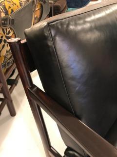 Peter Hvidt Orla M lgaard Nielsen Peter Hvidit black leather sofa - 1252323