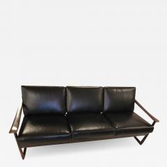 Peter Hvidt Orla M lgaard Nielsen Peter Hvidit black leather sofa - 1280106