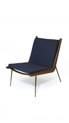 Peter Hvidt Orla M lgaard Nielsen Peter Hvidt Danish Teak Lounge Chair on Brass Legs - 1072178