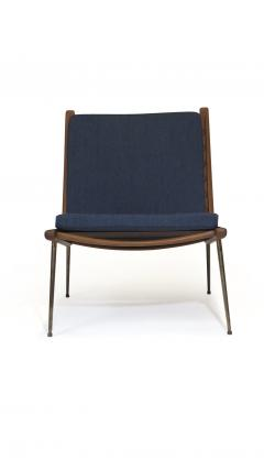Peter Hvidt Orla M lgaard Nielsen Peter Hvidt Danish Teak Lounge Chair on Brass Legs - 1072179