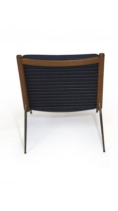 Peter Hvidt Orla M lgaard Nielsen Peter Hvidt Danish Teak Lounge Chair on Brass Legs - 1072180