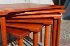 Peter Hvidt Orla M lgaard Nielsen RARE set of 6 SOLID TEAK SIDE STACKING COFFEE TABLES by Hvidt - 2074122